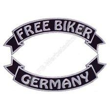FREE BIKER - GERMANY SET Rückenaufnäher 29cm Patch Aufnäher gestickt Patches NEU