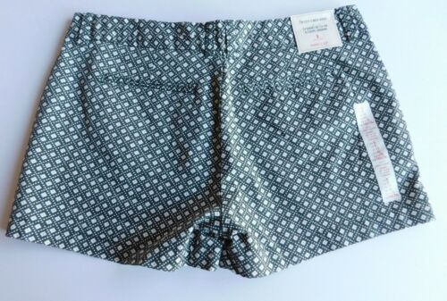 "NWT Gap Women/'s Khaki 3/"" City Shorts Green//Ivory Print Sizes 6 8 18 MSRP$35 New"