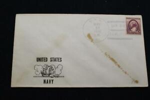 Naval-Cubierta-1938-Barco-Cancelado-ESTADOS-UNIDOS-Navy-Cachet-Uss-Hull-DD-350