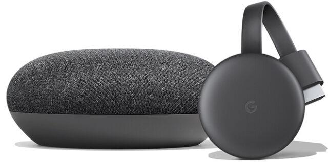 Google Ga00545 Us Smart Tt Kit Google Home Mini And Chromecast Charcoal For Sale Online Ebay