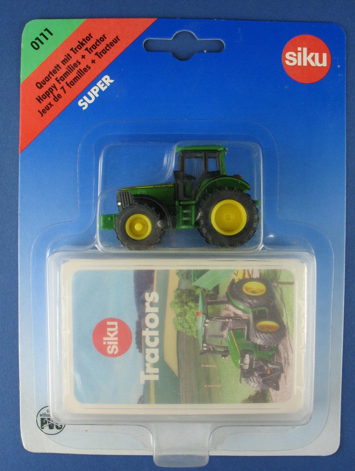 Siku 0111 -  Tractors  Quartetto-con Trattore-John Deere 6920 S-NUOVO IN SCATOLA ORIGINALE