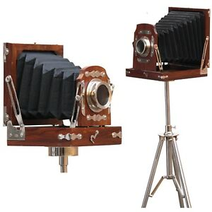 Vintage Royal Wooden Film Slide Old Retro Camera Home Decor Steel Tripod Office