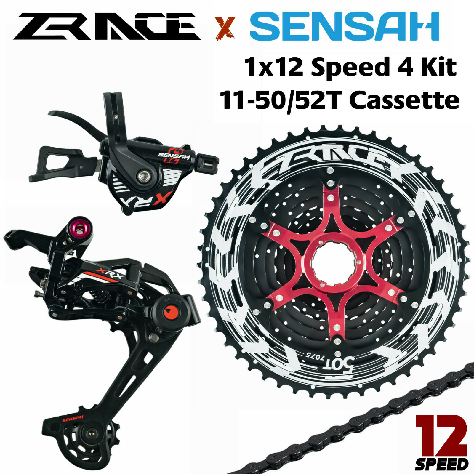SENSAH XRX  12S Groupset MTB 12Speed groupset 1X12S Group 50 52T  will make you satisfied