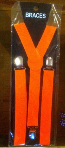 Orange Bretelles Bretelles Hommes Business homme drôle déguisement Neuf Scellé