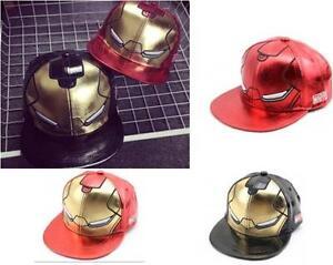 Unisex-heroe-de-Marvel-Los-Vengadores-Iron-Man-Gorra-De-Beisbol-Gorro-Sombrero-de-moda-ninos