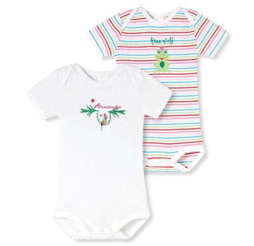Schiesser doble pack set babybody Baby body cinturilla chica algodón nuevo
