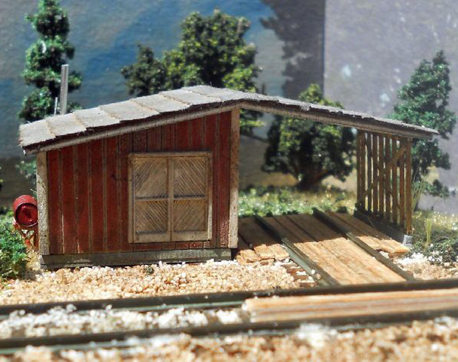 SPEEDER SHED N Scale Model Railroad Structure Unpainted Wood Laser Kit RSL3049