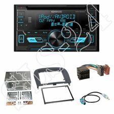 Kenwood DPX3000U CD Radio + Mercedes SL(R230) 2-DIN Blende schwarz + ISO-Adapter