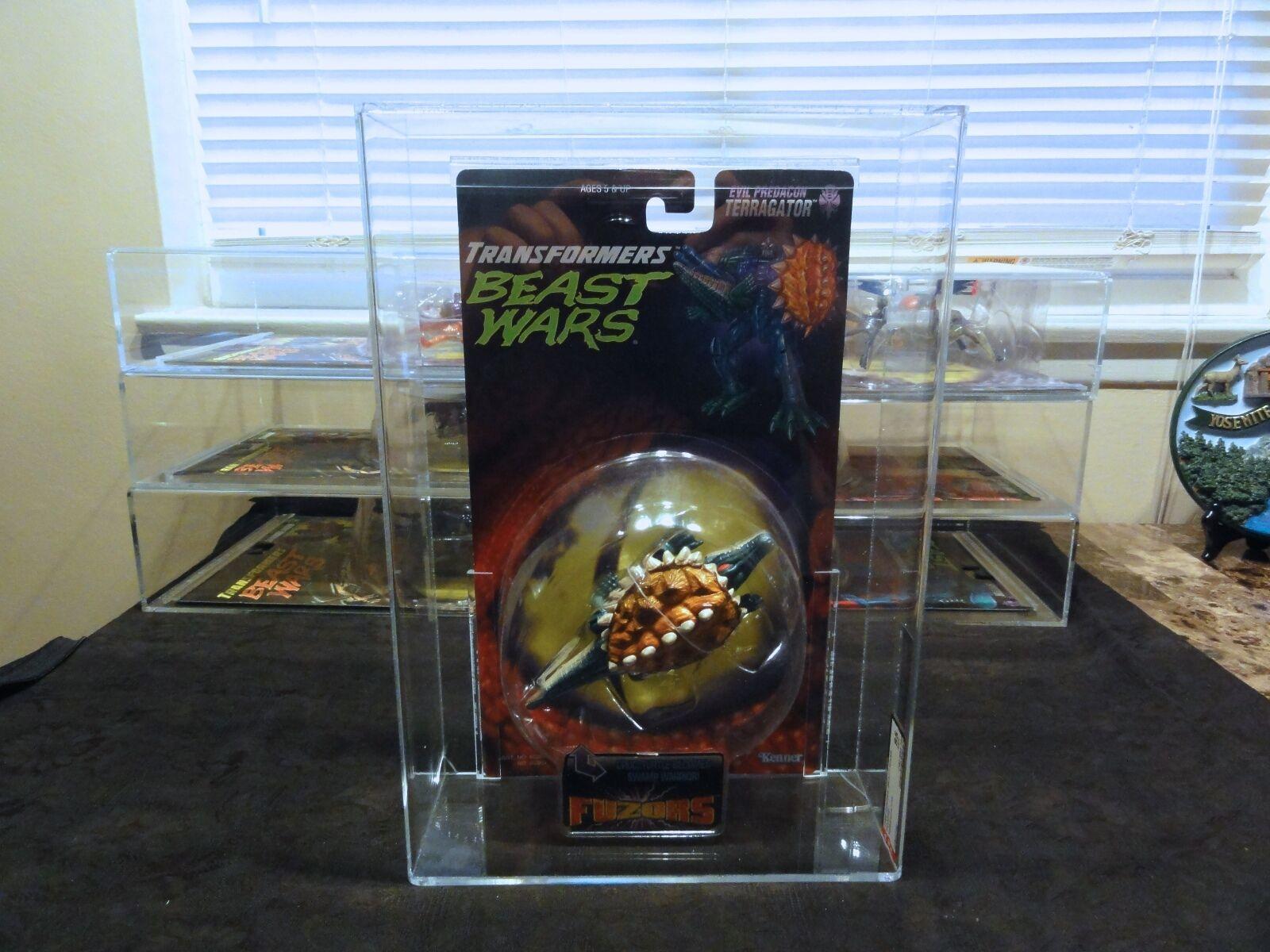 Transformers AFA Beast Wars 1998 Fuzors Terragator Sealed MIB BOX