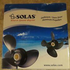 """SOLAS Prop Johnson Suzuki 10.3/"""" 12 Pitch 3 Blade RH 4211-103-12 Amita 3"""