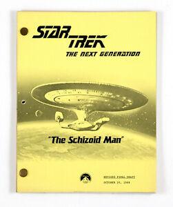 """STAR TREK:TNG ORIGINAL SCRIPT-""""The Schizoid Man"""" Written by Mannng,Beimler,Tormé"""
