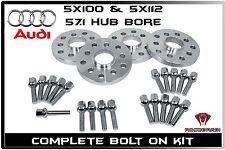 4 Pc 1997-2010 Audi A8 20mm Thick Hub Centric Wheel Spacers 5x100 5x112 57.1 H.B