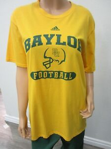 best service e0be2 cf595 Details about NEW Baylor University Unisex NCAA Adidas The Go-To Tee  T-Shirt Yellow Size L