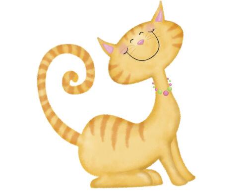 Feliz Ginger Cat 130 pequeños o 48 grandes Sticky Libro Blanco calcomanías Etiquetas Nueva