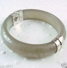 Silpada Scrollwork Opaque Resin Bangle Bracelet B2186 Sterling Silver Retired