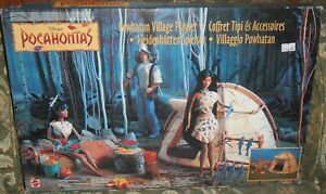 PLAYSET-WALT-DISNEY-VINTAGE-POCAHONTAS-VILLAGGIO-INDIANO-INDIAN-POWHATAN-VILLAGE
