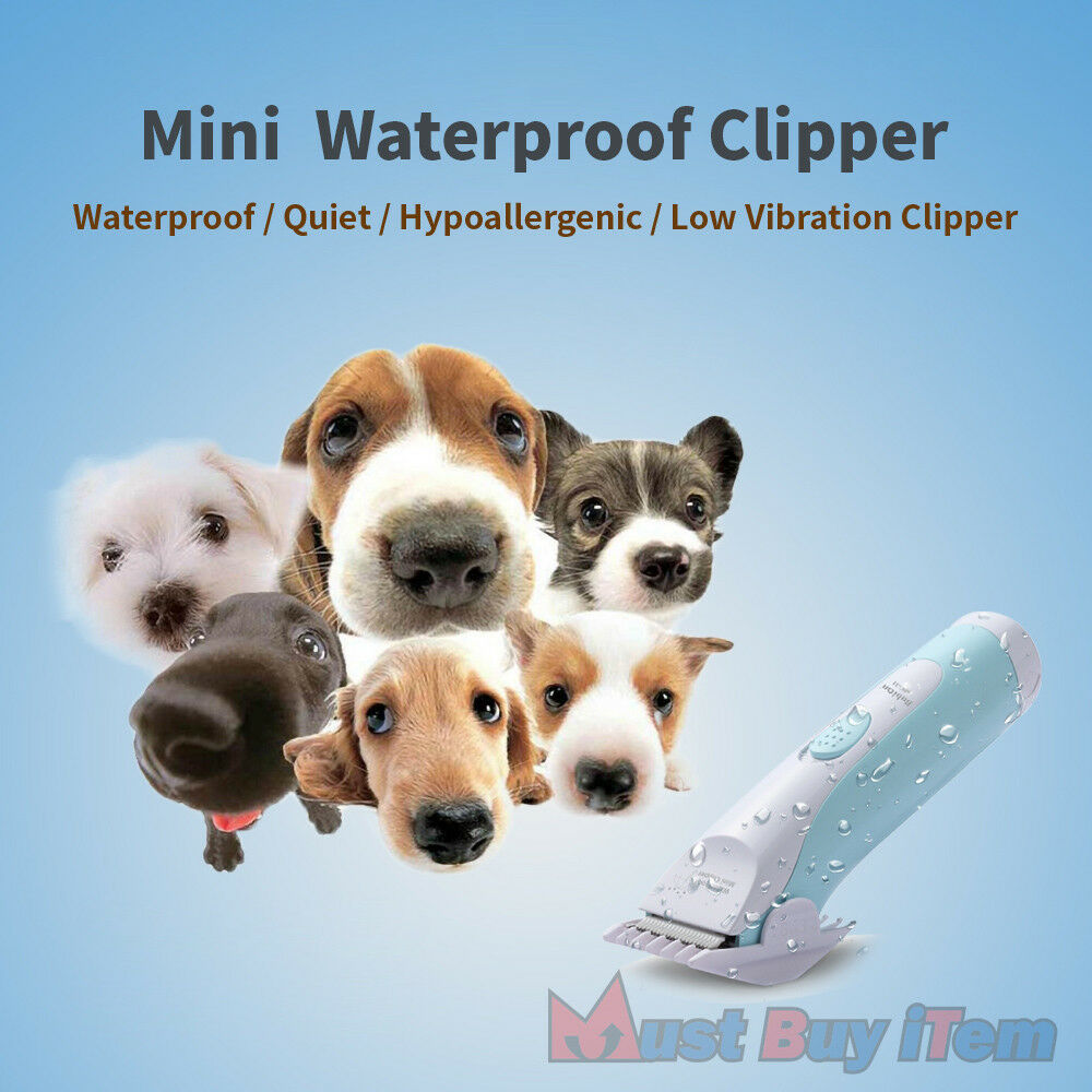 Pet Hair Professional Electric Clippers Mini Waterproof Dog Cat Grooming Trimmer