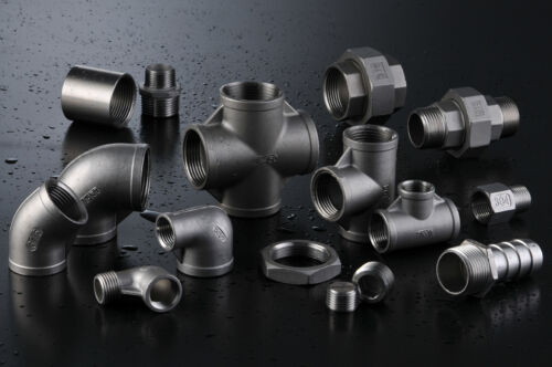 """Stainless Steel 304 Fitting Reducing Coupling Class 150 2/"""" X 1//2/"""" Female NPT"""