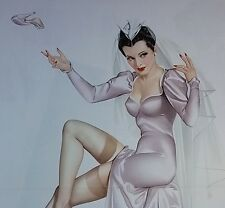 VTG Vargas 1941 WWII Pin-Up Esquire Magazine Centerfold Bouquet for a Bride