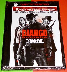 DJANGO DESENCADENADO / DJANGO UNCHAINED - English Español DVD R2 -DVD+LIBRO PREC