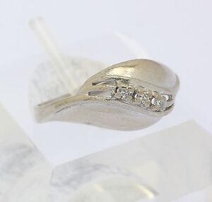 Ring-in-aus-14-kt-585er-Weissgold-mit-Diamanten-Goldring-Diamantring-Gr-54