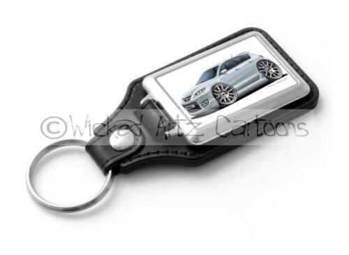 RetroArtz Cartoon Car Mazda 3 in Silver Classic Key Ring