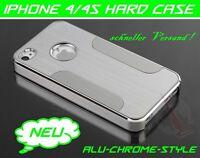 Apple iPhone 4 4S Bumper Aluminium Hard Case Chrome Metall Cover Schutzhülle