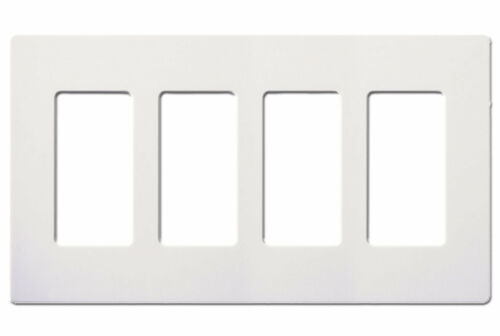 Westgate S18834-W White Four Gang Screwless Decora GFCI Wallplates