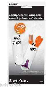 GHOST-CUTLERY-NAPKINS-HOLDERS-OR-CANDY-WRAPPERS-HALLOWEEN-PARTY-TABLE-DECORATION
