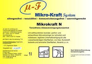 Mikrokraft N Allzweckreiniger Konzentrat Reiniger Kunststoff Metall Profi
