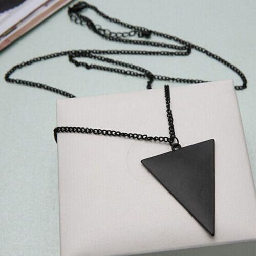Haute Qualité Simple Pendentif long colliers pour hommes femmes 3 couleurs Triangle