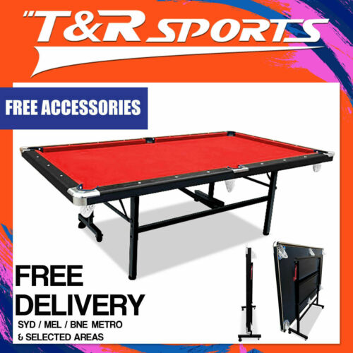2019 New Model 7FT Red Foldable / Fold Away Pool Billiard Table Free Accessory