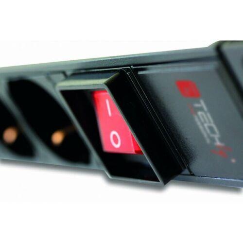 Multipresa Universale 9 posti schuko e bipasso con interruttore per rack 19/'/'