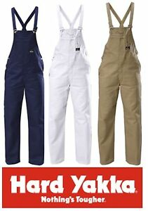 HARD-YAKKA-BIB-amp-BRACE-100-COTTON-DRILL-MENS-OVERALLS-Y01010