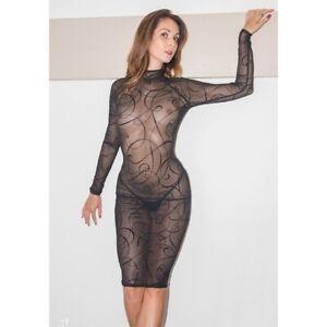 Patrice-Catanzaro-Azia-Robe-sexy-noire-micro-resille-motif-arabesque