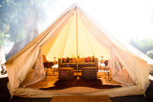 4M-Beige-Waterpoof-Glamping-Cotton-Canvas-Bell-Tent-Yurt-British-Tents-6-8person