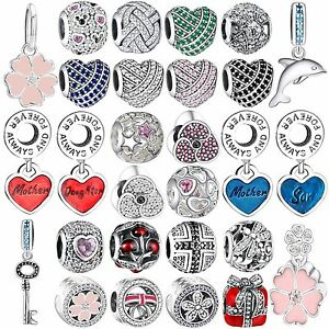 Authentic-Shining-CZ-Crystals-Charms-Bead-Fit-925-Silver-Brand-Bracelets-Bangle