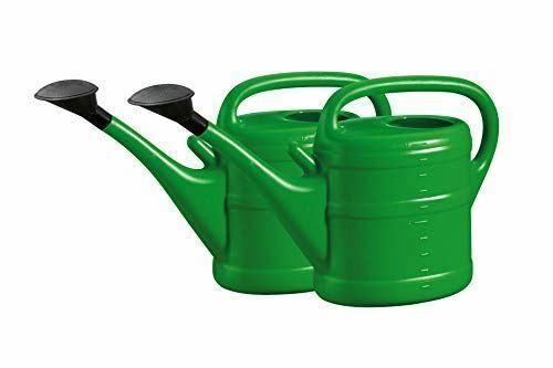 (2x Green) 10 liter Watering Can With Rose sprinkler Head for Outdoor Garden Wat