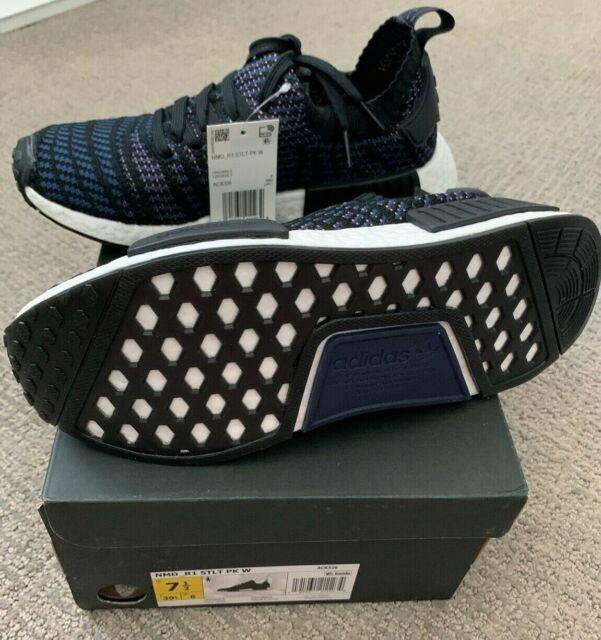 Adidas Nmd R1 Stlt Primeknit Womens Ac8326 Black Indigo Ash Pink