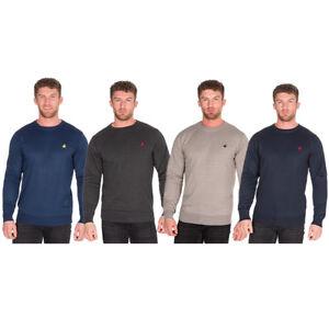 Mens Pierre Roche Long Sleeve Crew Neck SweaterJumperTop