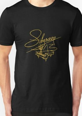 Alan Partridge Gold Signature Men/'s Black T-SHIRT ALL SIZES