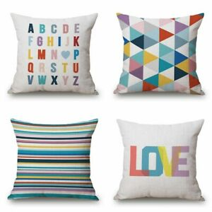 Marvelous Details About Decorative Bright Pillow Cushion 18X18 Couch Color Geometry Throw Cover Case Uwap Interior Chair Design Uwaporg