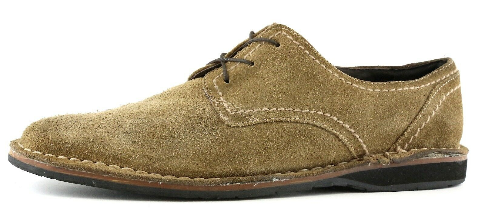 John Varvatos Star USA Lace Up Suede shoes Brown Men Sz 8M 9273