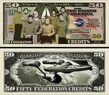 STAR TREK BILLET DOLLAR US! ENTERPRISE SPOCK Série SF Leonard Nimoy Kirk Million
