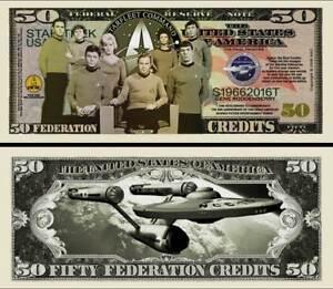STAR-TREK-BILLET-DOLLAR-US-ENTERPRISE-SPOCK-Serie-SF-Leonard-Nimoy-Kirk-Million