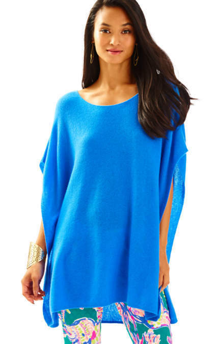 NWT  Lilly Pulitzer Kizzy Cashmere tunic Lapis bluee  S M