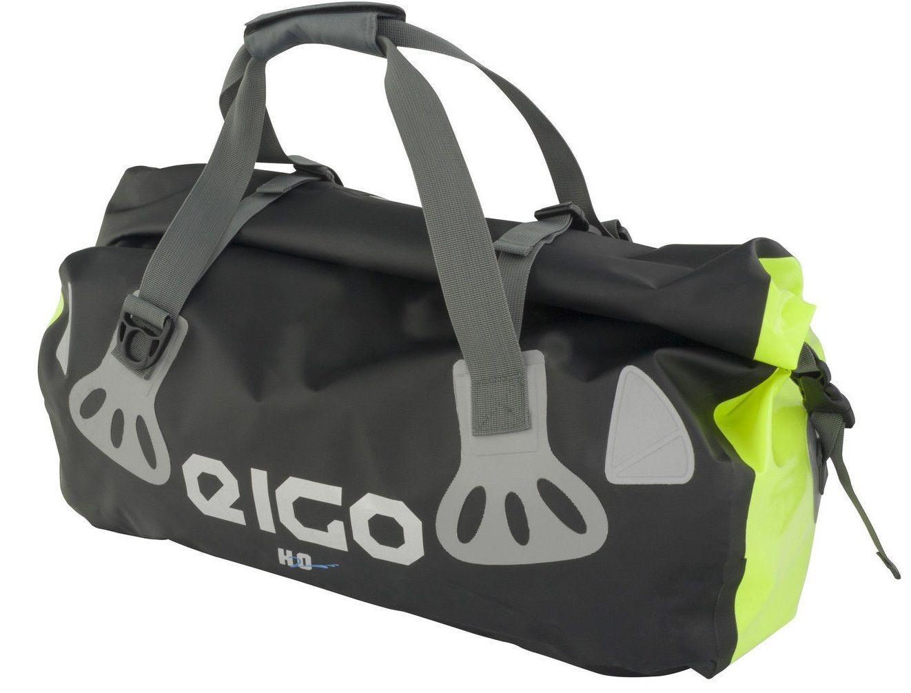 NEW EIGO WATERPROOF HOLDALL ROLL BAG 30L FLUgold - CYCLE CYCLING MTB ROAD BIKE