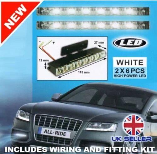 Nuevo 2 X Ultra Super brillante LED Coche Luces Luz del día las luces correr 12V voltios UK