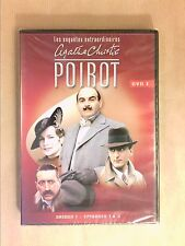 DVD SERIES / HERCULE POIROT N°1 / SAISON 1 / 3 EPISODES / 150 MNS / NEUF CELLO