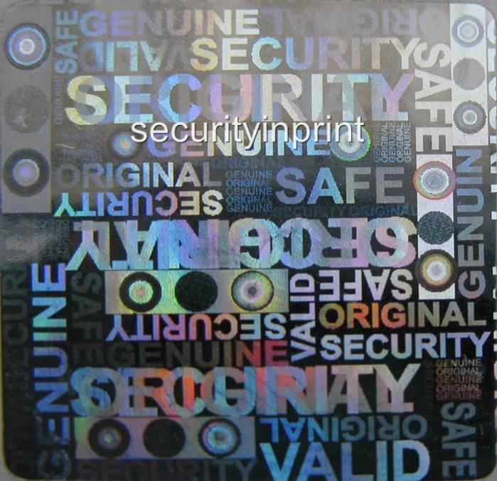 490 hologramme valide autocollants étiquettes de sécurité holographique original valide hologramme 20mm s20-2s faf253